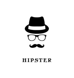 Fashion silhouette hipster vector