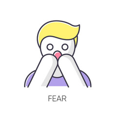Fear rgb color icon vector