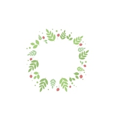 Frame with leaves and berries template vector