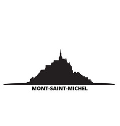 France mont saint michel and its bay city skyline vector