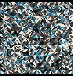 funky stylized geo triangle square tiling pattern vector image