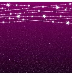 Garland Star Bulbs Stars New Year Christmas vector image