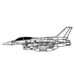 General dynamics f-16i sufa vector