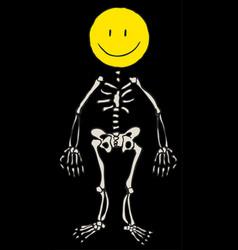 Happy face skeleton vector