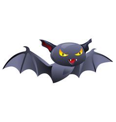 happy halloween angry vampire vector image