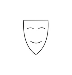Happy mask icon vector