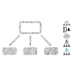 Hatch collage hierarchy icon vector