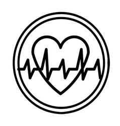 heartbeat symbol vector image
