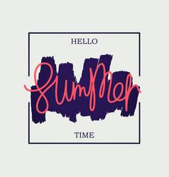 Hello summer time poster vector