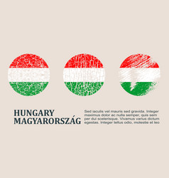 Hungary flag design concept vector