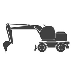 Icon of a construction excavator on a white vector