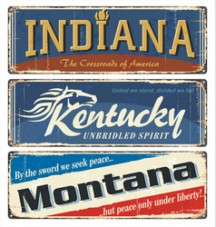 indiana kentucky montana all states vector image