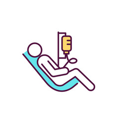 Intravenous therapy procedure rgb color icon vector