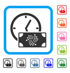 iota banknote credit time framed icon vector image