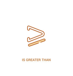 Is greater than or equal to concept 2 colored vector