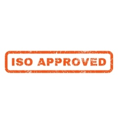 ISO Approved Rubber Stamp vector image