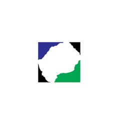 Lesotho map logo icon symbol element vector