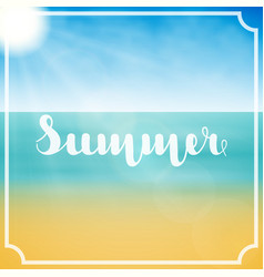 lettering summer in white color in abstract vector image