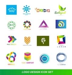 Logo design elements icon set vector image