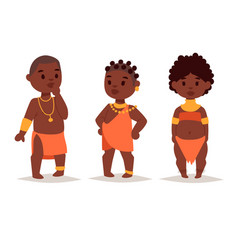 maasai african people in traditional clothing vector image