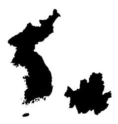 Map republic korea and seoul country and vector