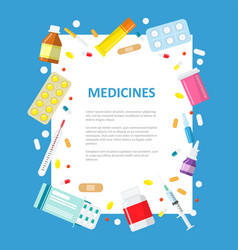 Medical or pharmaceutical banner in a flat style vector