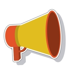 Megaphone silhouette isolated icon vector