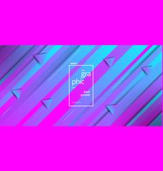 minimalist geometric blue pink triangle shape vector image