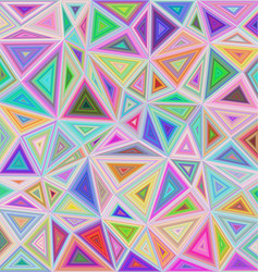 Multicolor triangle mosaic tile background design vector image