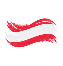 national flag of austria designed using brush vector image