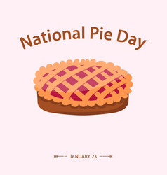National pie day flat style vector