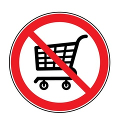 No cart sign vector