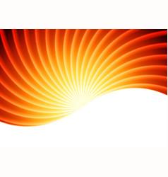 orange sun beams abstract background vector image