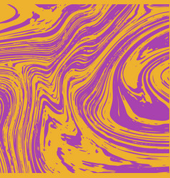 paint stain abstract liquid orange and purple vector image
