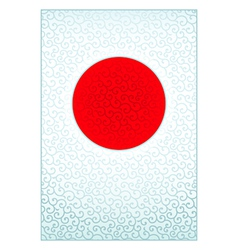 Pattern Japanese flag vector image