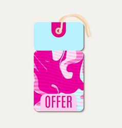 pink bright tags with shabbi chick vector image vector image