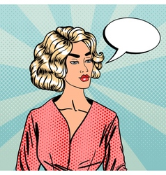 Pop Art Woman Businesswoman with Speech Bubble vector image