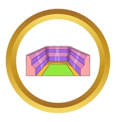 Rectangular stadium icon vector