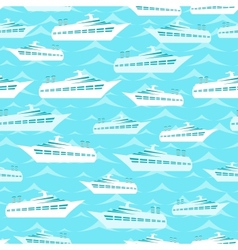 Retro seamless travel pattern of cruise liners vector image