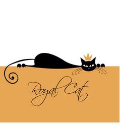 Royal black cat design vector