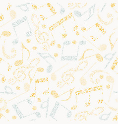 seamless pattern of music vector image