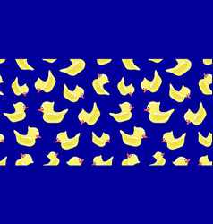 seamless pattern with yellow toy ducks vector image