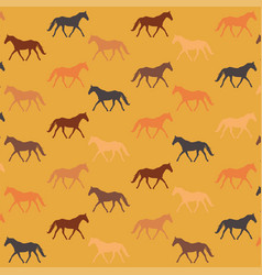 Seamless patterns with horses template vector