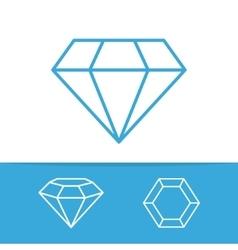 set diamond design elements vector image