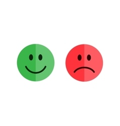 Set of smiley emoticons vector image