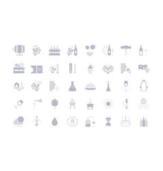 set simple icons wine vector image
