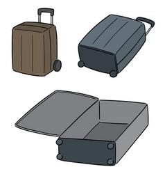 set suitcase vector image