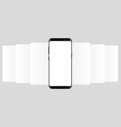 smartphone with blank wireframing screens vector image