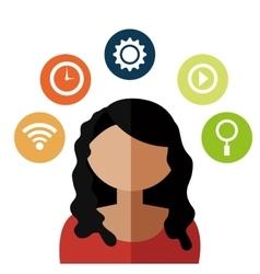 Social media technology vector