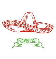 sombrero hand-drawing vector image